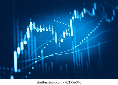 Stock market chart. Business graph background. Forex trading bus