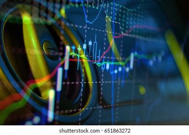 Stock market chart. Business graph background. Financial background stock market graph
