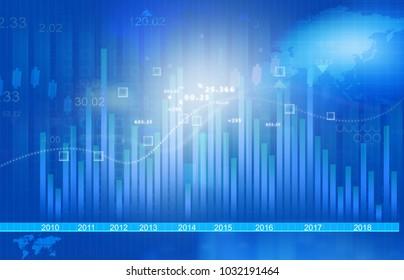Stock market chart. Digital illustration