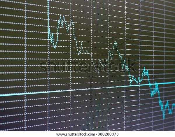 Stock Market Chart Graph On Black Stock Photo Edit Now 380280373