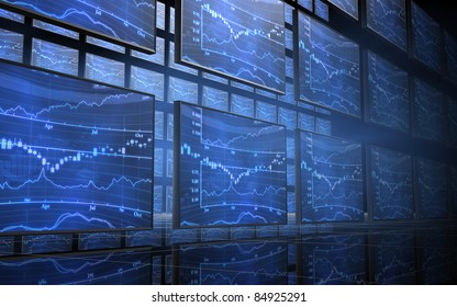 Stock Market Chart Screens