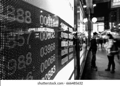Börsenkarten (Schwarz-Weiß)