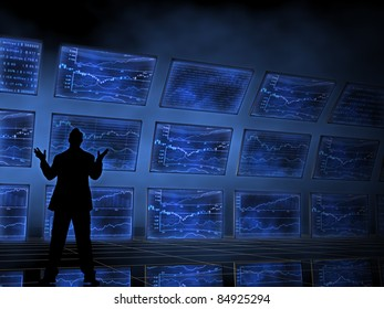 Stock Market Charts on Televisions