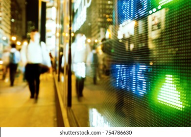Stock market in the city