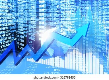 stock market concept , stock exchange