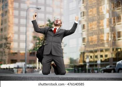 Stock market crash finance investor trader bankruptcy loss money defeated man