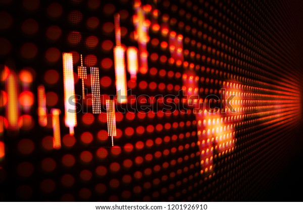 Stock Market Data On Digital Led Stock Photo (Edit Now