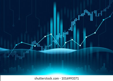 Stock market or forex trading graph in futuristic concept suitable for financial investment or Economic trends business idea and all art work design for Abstract finance background cover banner