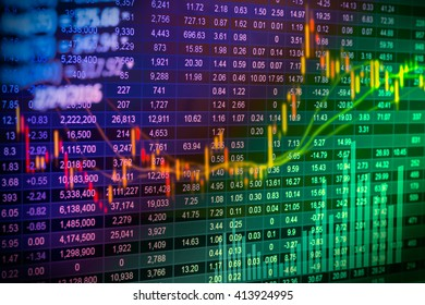 stock market or forex trading graph and candlestick chart suitable for financial investment concept economy