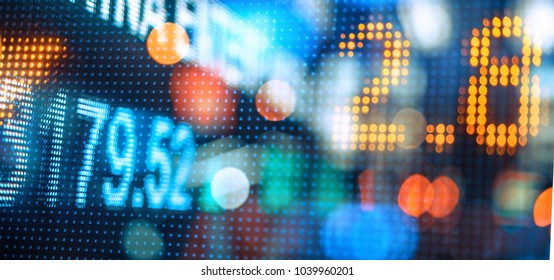 Stock market numbers display in the city