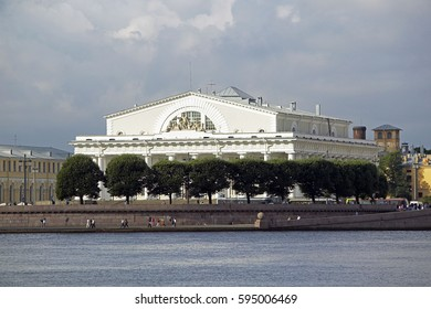 the stock market on the river Neva in St. Petersburg, Russian Federation