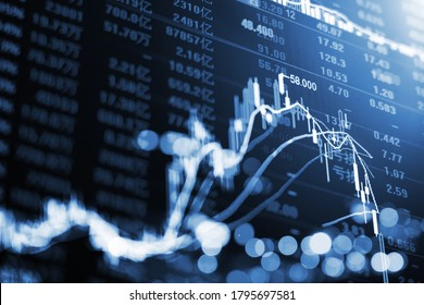 Stock market stock securities trading data analysis, trading data background