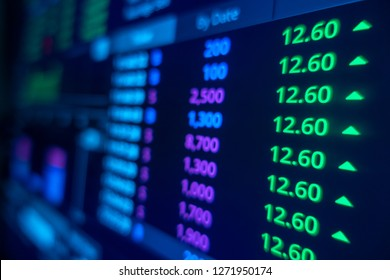 Stock market trading graph and candlestick chart for financial investment concept. Abstract finance background.