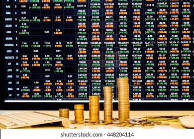 Stock and money.
