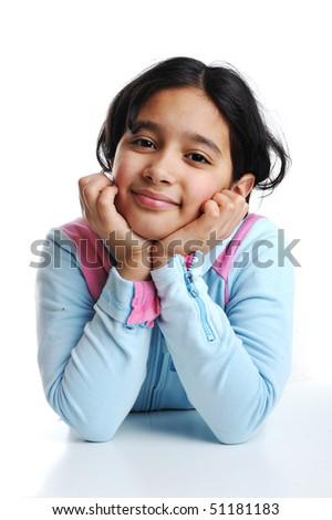 a beautiful child - stock photo