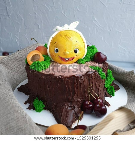 a delicious and beautiful cake.