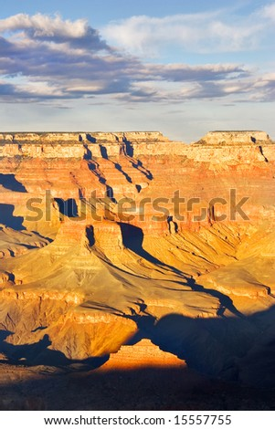 A grandiose landscape of the Grand Canyon in the USA