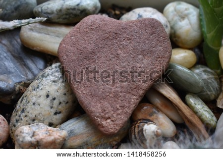 A Heart shaped red rock #1418458256