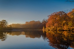 A morning view of Avalon park and preserve, Stony Brook, New York, which is very peaceful and beautiful.