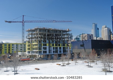 A picture of a building under construction - stock photo