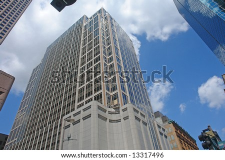 A picture of a downtown office tower