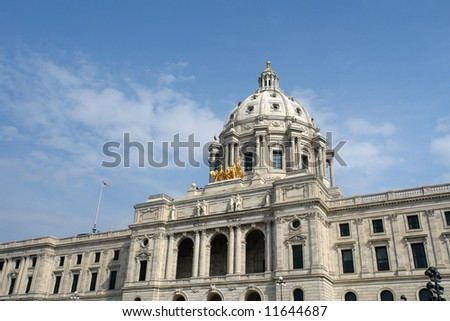 A picture of Minnesota state capital in St. Paul