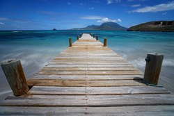 A Pier at Turtle Beach, St. Kitts.