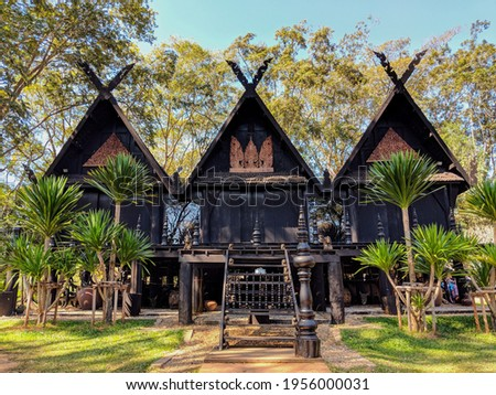 A Structure at Baan Dam Black House in Chiang Rai, Thailand Stockfoto ©