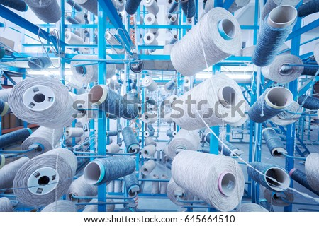 Shutterstock A textile factory in China