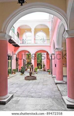 A view of colonial building interior, Old Havana , Cuba