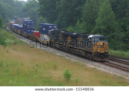 a westbound csx train on the...