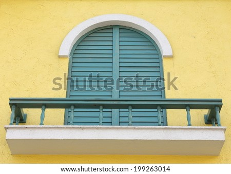 a window with a windowsill