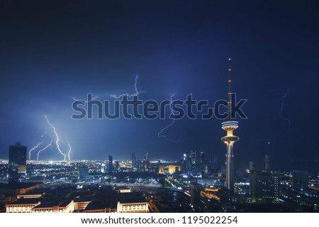 A wonderful shot of lightning in Kuwait City