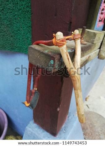 a wooden vintage lastik Stok fotoğraf ©