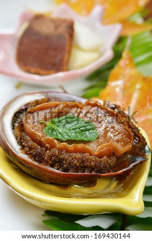 Abalone cook in Japanese style
