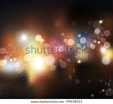 abstract background with blurred defocused lights