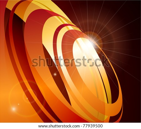 Abstract background with circles in motion - raster version