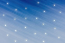 Abstract blue background with white stars