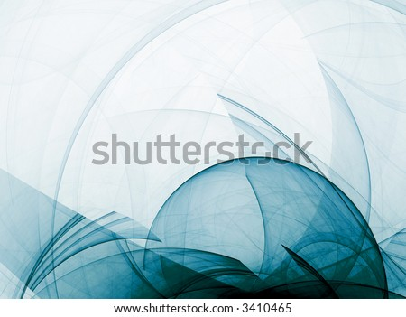 abstract curve composition on light background