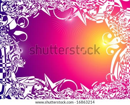 stock photo abstract fantasy tribal flower frames