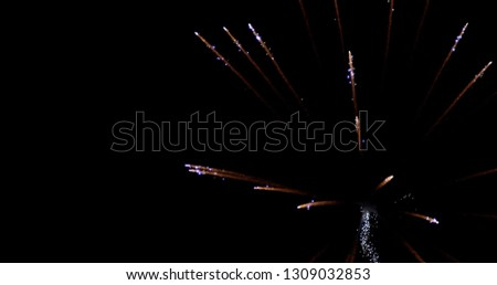 Abstract Fireworks Stock Image #1309032853