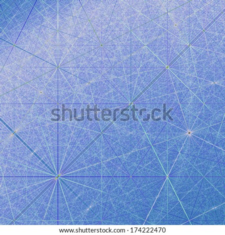 Abstract Geometric Network in blue