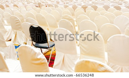 Abstract of white chairs