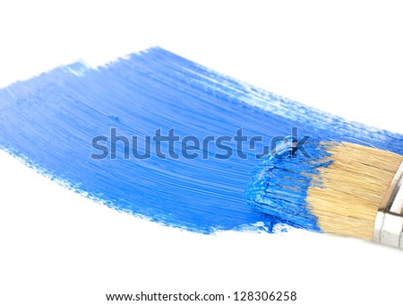 Abstract pattern in blue on a white background - stock photo
