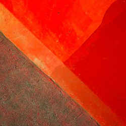 abstract wall in red and orange