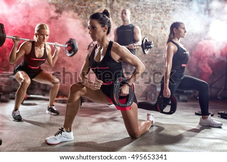 Active people on  class of body pump #495653341