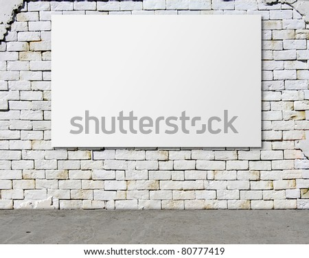 advertising billboard on dirty grunge wall - stock photo