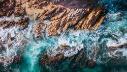 Aerial photography of the sea in Los Cabos Baja California