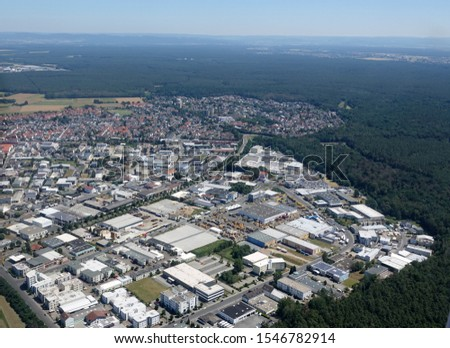 Aerial view: Ober-Roden in Germany                            Stock foto ©