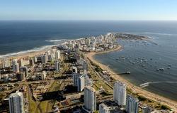 Aerial view of Punta del Este, Uruguay